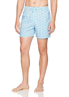 Original Penguin Men's Reversible Sunglass Printed Elastic Waist Swim Trunk