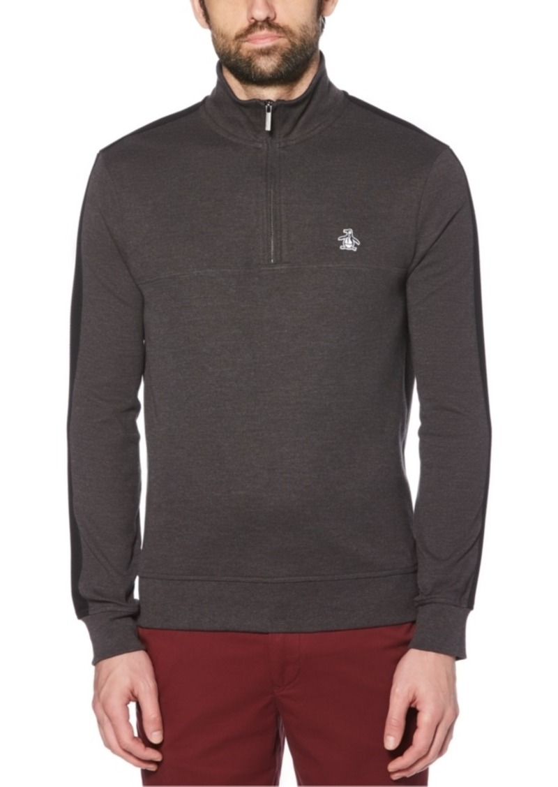 Original Penguin Men's Ribbed Quarter-Zip Sweater