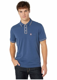Original Penguin Men's Short Sleeve 3D Earl Polo Sargasso Sea L