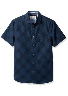 Original Penguin Men's Short Sleeve Argyle Pindot