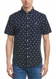 Original Penguin Men's Short Sleeve Bike Print Oxford Shirt  Extra Large