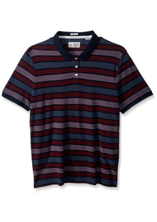 Original Penguin Men's Short Sleeve Birdseye Striped Polo Shirt