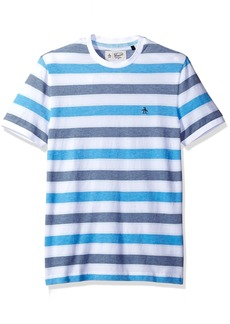 Original Penguin Men's Short Sleeve Birdseye Wide Stripe Tee