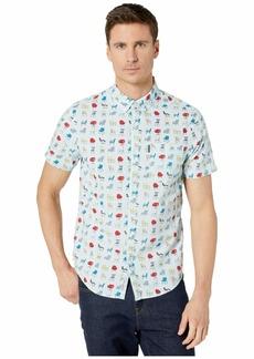 Original Penguin Men's Short Sleeve Camp Collar Button Down Shirt