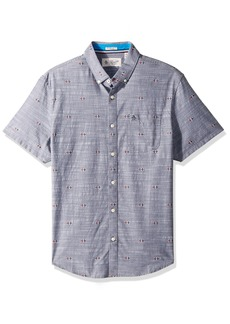 Original Penguin Men's Short Sleeve Chambray Argyle Print
