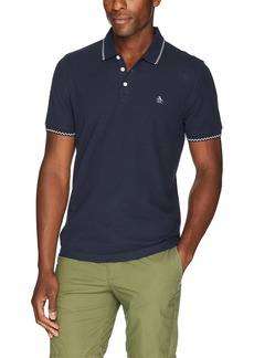 Original Penguin Men's Short Sleeve Check Tipped Polo
