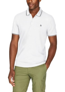 Original Penguin Men's Short Sleeve Check Tipped Polo  Extra Large