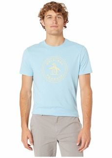 Original Penguin Men's Short Sleeve Circle Logo Tee air Blue Yellow S