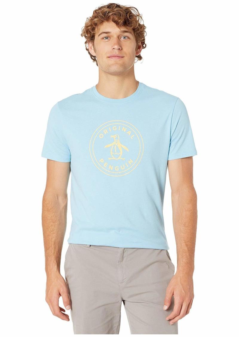 Original Penguin Men's Short Sleeve Circle Logo Tee air Blue Yellow S