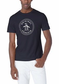 Original Penguin Men's Short Sleeve Circle Logo Tee Dark Sapphire M