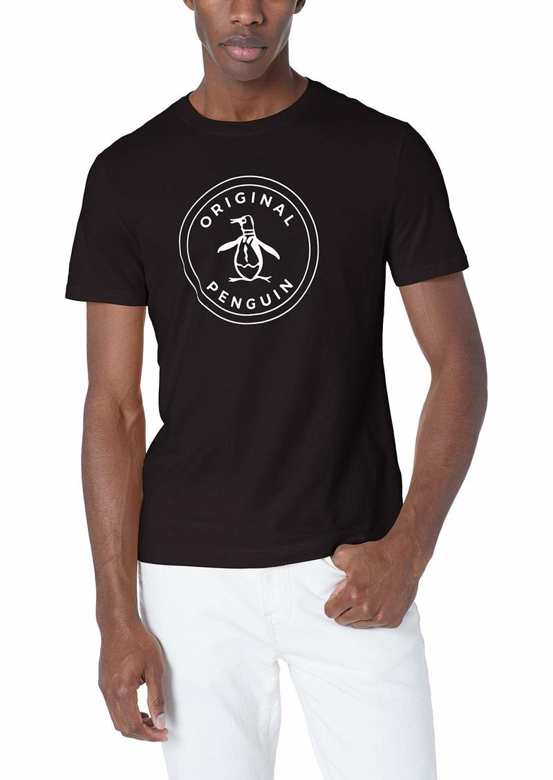 Original Penguin Men's Short Sleeve Circle Logo Tee True black M