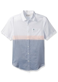 Original Penguin Men's Short Sleeve Colorblock Lawn