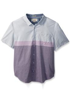 Original Penguin Men's Short Sleeve Colorblock Lawn Shirt