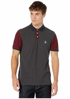 Original Penguin Men's Short Sleeve Colorblock Polo  L