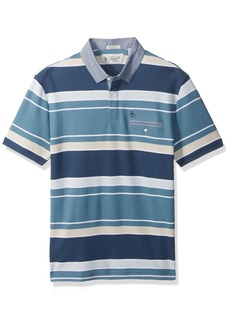 Original Penguin Men's Short Sleeve Concealed Plkt Polo