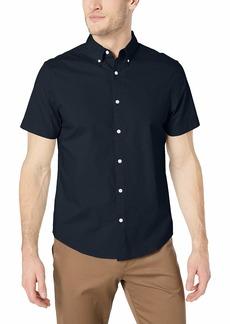 Original Penguin Men's Short Sleeve Core Poplin Button Down Shirt with Stretch