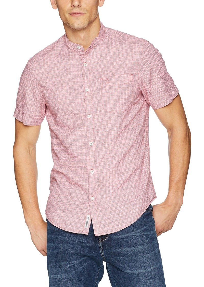 Original Penguin Men's Short Sleeve Crosshatch Shirt