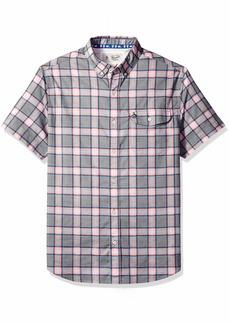 Original Penguin Men's Short Sleeve Electric Check Shirt  Extra Large