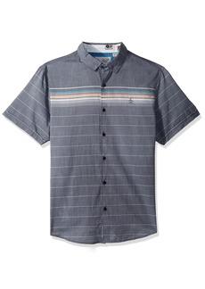 Original Penguin Men's Short Sleeve Engineered Stripe Shirt
