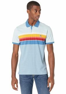Original Penguin Men's Short Sleeve Engineeredineered Stripe Polo Shirt