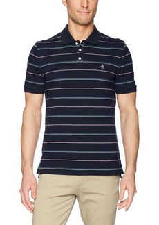 Original Penguin Men's Short Sleeve Feeder Stripe Polo