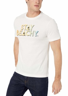 Original Penguin Men's Short Sleeve Graphic Tee Bright White beachy M