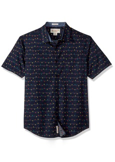 Original Penguin Men's Short Sleeve Holiday Lights Shirt  Extra Large