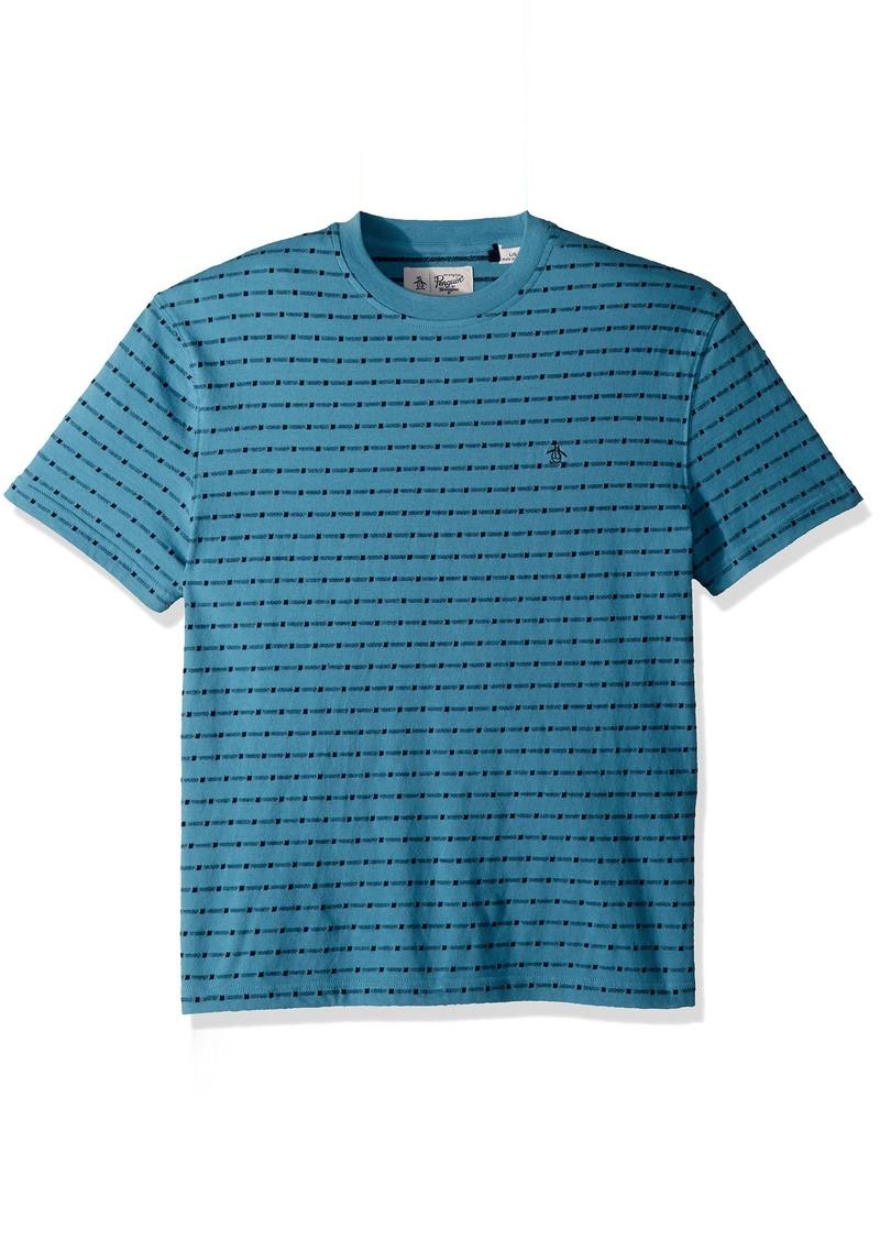 Original Penguin Mens Short Sleeve Colorblock Polo Air Blue L