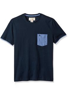 Original Penguin Men's Short Sleeve Jaspe Pocket Tee with Cuff Detail