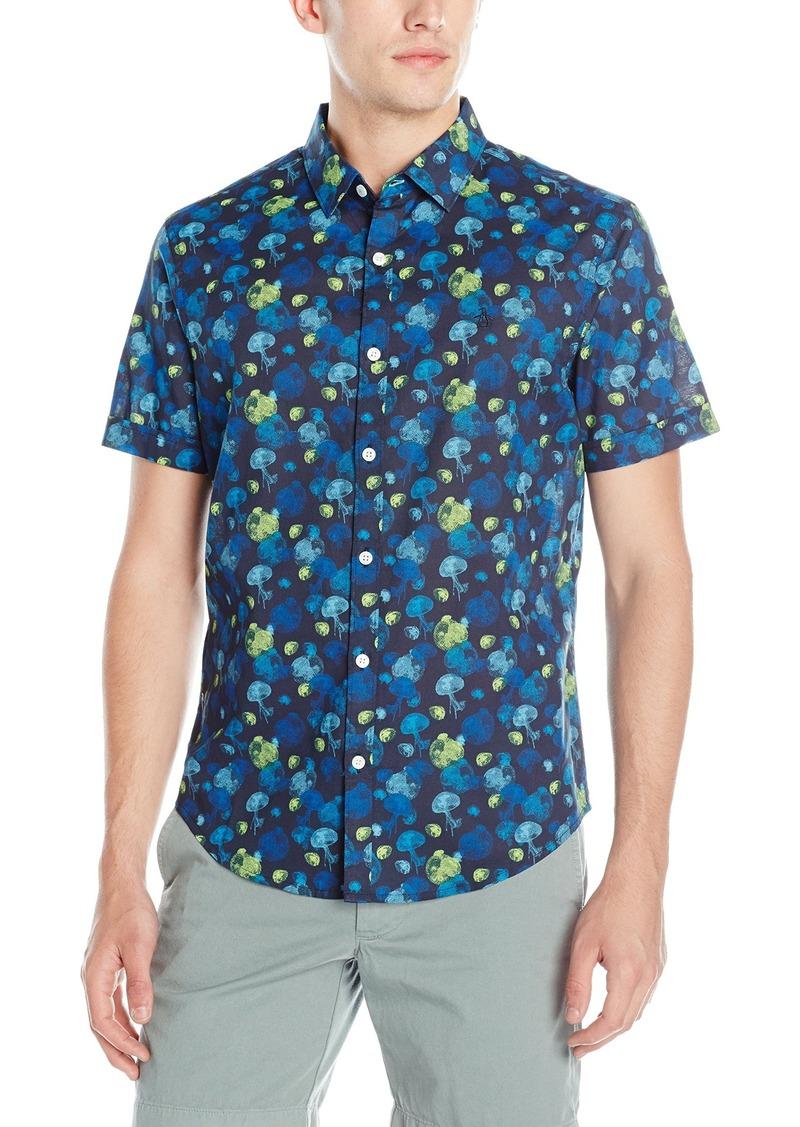 Original Penguin Men's Short Sleeve Jelly Fish Button Down Shirt  XX-Large