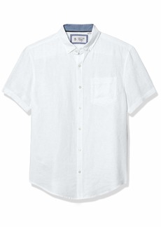 Original Penguin Men's Short Sleeve Linen Shirt  X Large