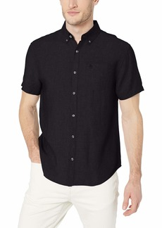 Original Penguin Men's Short Sleeve Linen Shirt  M