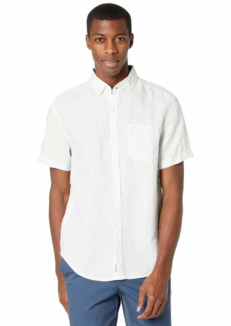 Original Penguin Men's Short Sleeve Linen Shirt