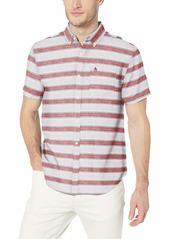 Original Penguin Men's Short Sleeve Linen Shirt  L