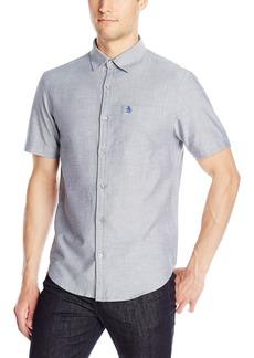 Original Penguin Men's Short Sleeve Oxford Button Down Shirt