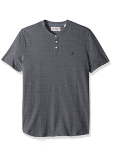 Original Penguin Men's Short Sleeve Oxford Henley