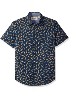Original Penguin Men's Short Sleeve Peanut Printed Poplin