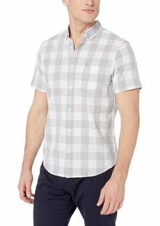 Original Penguin Men's Short Sleeve Plaid Button Down Shirt  M