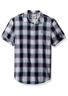 Original Penguin Men's Short Sleeve Plaid On Lawn