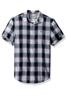 Original Penguin Men's Short Sleeve Plaid On Lawn  Extra Large
