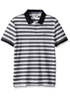 Original Penguin Men's Short Sleeve Pointelle Stripe Polo