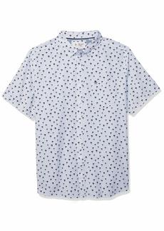 Original Penguin Men's Short Sleeve Printed Button Down Shirt  M