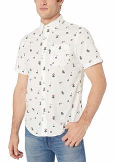 Original Penguin Men's Short Sleeve Printed Button Down Shirt  XL
