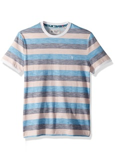Original Penguin Men's Short Sleeve Rev Feeder Stripe Tee  Extra Large