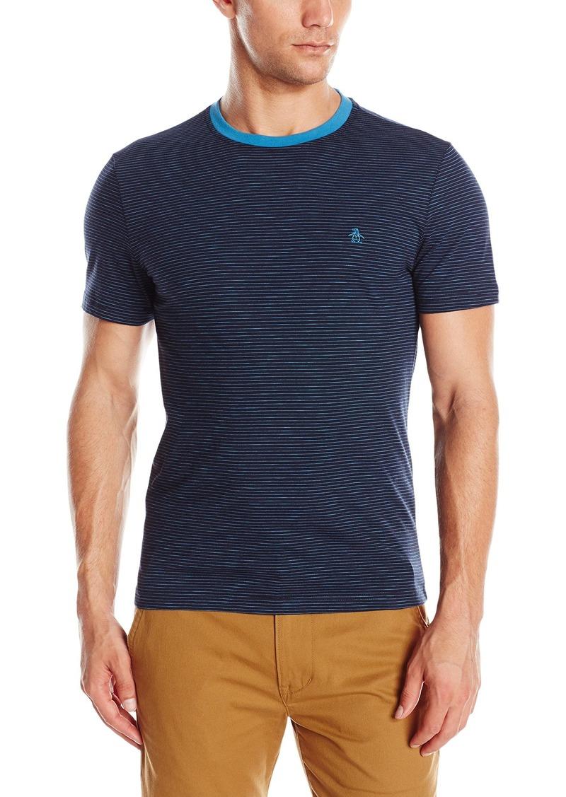 Original Penguin Men's Short Sleeve Slub Feeder Stripe Ringer T-Shirt