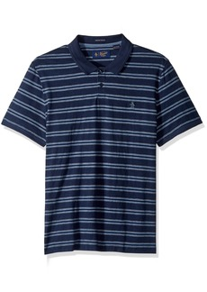 Original Penguin Men's Short Sleeve Slub Stripe Polo