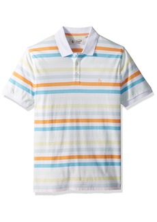 Original Penguin Men's Short Sleeve Soda Stripe Polo