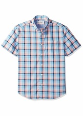 Original Penguin Men's Short Sleeve Stretch P55 Plaid