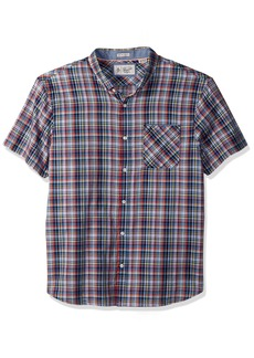 Original Penguin Men's Short Sleeve Stretch Plaid Shirt