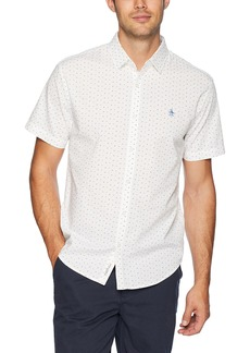 Original Penguin Men's Short Sleeve Stretch Poplin
